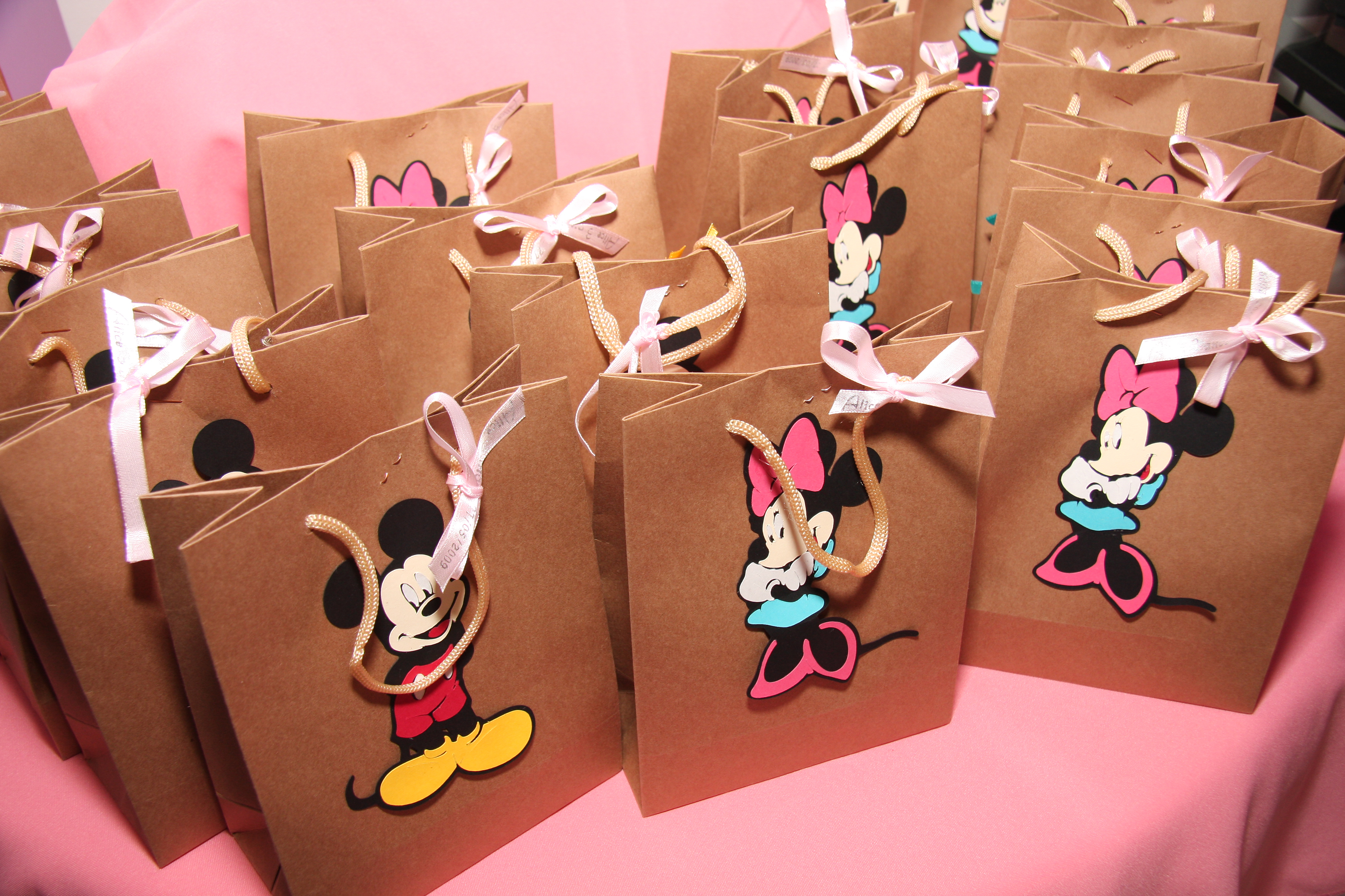 Lembrancinha     Sacola Personalizada Mickey Minnie  Papel  O